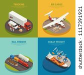 cargo transportation including... | Shutterstock .eps vector #1117391921