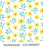 seamless pattern with yellow... | Shutterstock .eps vector #1117394957