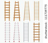 Set Of Various Ladders On The...