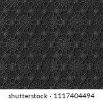 3d dark paper art islamic...   Shutterstock .eps vector #1117404494