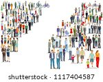 people groups directions ... | Shutterstock .eps vector #1117404587