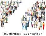 people groups directions ... | Shutterstock .eps vector #1117404587