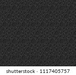 3d dark paper art islamic...   Shutterstock .eps vector #1117405757