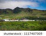 village vik  iceland. beautiful ... | Shutterstock . vector #1117407305
