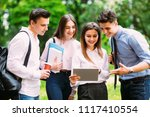 multi ethnic group of students...   Shutterstock . vector #1117410554