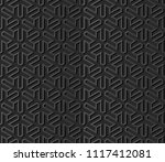 3d dark paper art islamic... | Shutterstock .eps vector #1117412081
