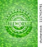 teleworker green mosaic emblem   Shutterstock .eps vector #1117414781