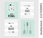 lion little king  be brave  be... | Shutterstock .eps vector #1117420091
