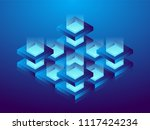 cryptocurrency and blockchain ... | Shutterstock .eps vector #1117424234