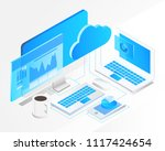 business analysis system ... | Shutterstock .eps vector #1117424654