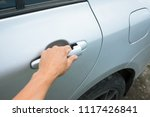 hand on the car handle. open... | Shutterstock . vector #1117426841