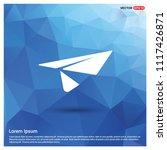 send icon   free vector icon | Shutterstock .eps vector #1117426871