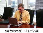 businessman working in a... | Shutterstock . vector #11174290