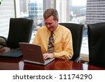 businessman working in a... | Shutterstock . vector #11174290