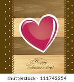 valentines day card with heart...   Shutterstock .eps vector #111743354