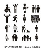 people signs isolated over... | Shutterstock .eps vector #111743381