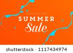 creative banner with color... | Shutterstock .eps vector #1117434974