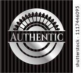 authentic silver emblem   Shutterstock .eps vector #1117446095