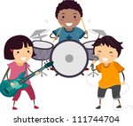 illustration of a little kids... | Shutterstock .eps vector #111744704