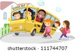 illustration of kids riding a... | Shutterstock .eps vector #111744707