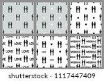 wedding set. seamless patterns...   Shutterstock .eps vector #1117447409