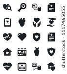 set of vector isolated black... | Shutterstock .eps vector #1117465055