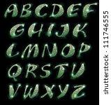 marble letter of the alphabet | Shutterstock . vector #111746555