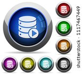 database macro play icons in... | Shutterstock .eps vector #1117467449
