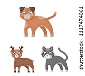 toy animals cartoon icons in... | Shutterstock .eps vector #1117474061