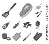 barbecue and equipment... | Shutterstock . vector #1117474154