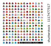 world flags all vector color... | Shutterstock .eps vector #1117477517