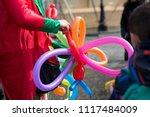 a freelance clown creating...   Shutterstock . vector #1117484009