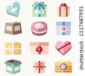 presents' and gift boxes vector ... | Shutterstock .eps vector #1117487951