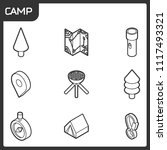 camp outline isometric icons | Shutterstock .eps vector #1117493321
