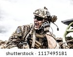 special forces soldier ... | Shutterstock . vector #1117495181