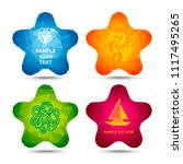 colorful labels stars. | Shutterstock .eps vector #1117495265
