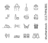 simple outdoors party icon set | Shutterstock .eps vector #1117496381