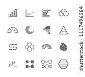 simple graph icon set  circle ... | Shutterstock .eps vector #1117496384