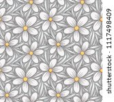 decorative floral seamless... | Shutterstock .eps vector #1117498409