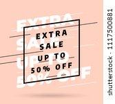 pink banner template design ...   Shutterstock .eps vector #1117500881