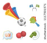 fan and attributes cartoon... | Shutterstock .eps vector #1117501571