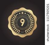 9 years golden anniversary logo ... | Shutterstock .eps vector #1117505201