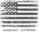 american grunge flag.black and...   Shutterstock .eps vector #1117505681