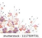 elegant wild flowers | Shutterstock .eps vector #1117509731
