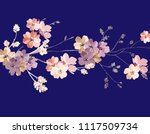 elegant wild flowers | Shutterstock .eps vector #1117509734