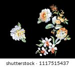 elegant rose flower | Shutterstock .eps vector #1117515437