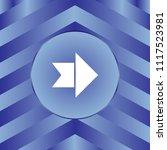 white arrow icon on blue... | Shutterstock .eps vector #1117523981