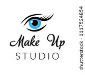 make up logo for beauty studio. ... | Shutterstock .eps vector #1117524854