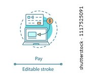cashless payment concept icon.... | Shutterstock .eps vector #1117525091