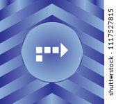 white arrow icon on blue... | Shutterstock .eps vector #1117527815